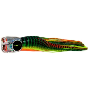 "Abaco Prowler Game Fishing Lure-15"" Green-Orange Tiger/Orange Yellow Tiger"