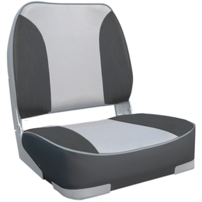 Deluxe Fishermans Folding Seat L.Grey / Dk. Grey