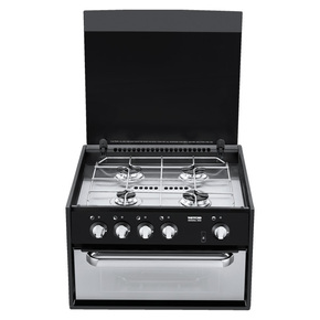 Mk3 4-Burner Stove with Mini Grill and Glass Lid
