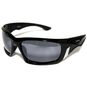 Sunsport Polarised Sunglasses - Black with Smoke Lens