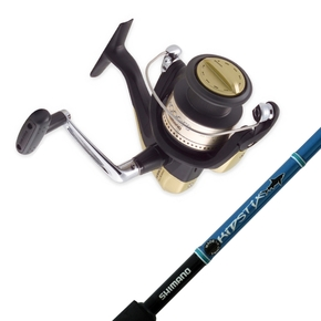 Hyperloop 4000FB Reel with Kidstix Blue Spinning Fishing Rod 4-6kg 5'5""