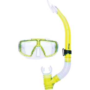 Tropic Silitex Adult Mask Snorkel Set- Yellow