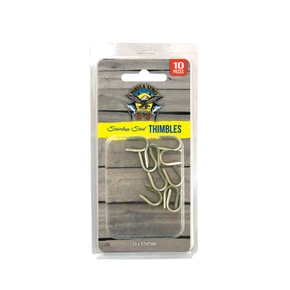 Pakula SS Game Fishing Thimbles- 200-400lb 10 pack