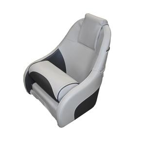 Ocean 51 Deluxe Flip Up Seat w/Rear Pocket - Charcoal/Grey