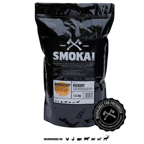 3-6mm Hickory Smoker Chips (Resealable Bag) 1.5kg