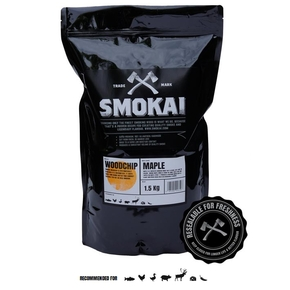 3-6mm Maple Smoker Chips (Resealable Bag) 1.5kg