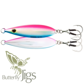 Inchiku Flat-Fall Butterfly Jig Lure - Pink / Blue 100g