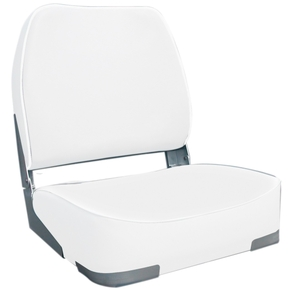 Deluxe Fishermans Folding Seat White
