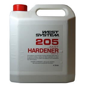 Z205 Epoxy Resin Fast Hardener  (Part B) - 4 Litre (5:1)