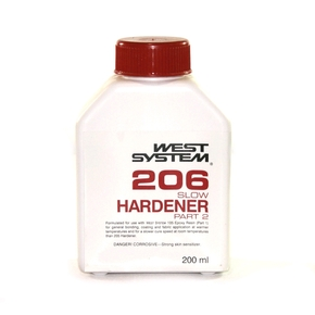 Z206 Epoxy Resin Slow Hardener  (Part B) - 200mls (5:1)