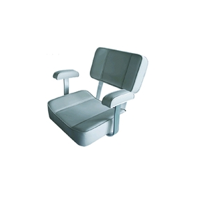 Deluxe Captains Boat Seat with Arms - Spanish White
