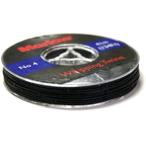 Marlow No. 4 (Medium) Black Whipping Twine /  41m Spool