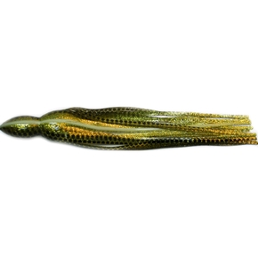 """Replacement Game Lure Skirt - 9.5"""" - Gold Dot"""