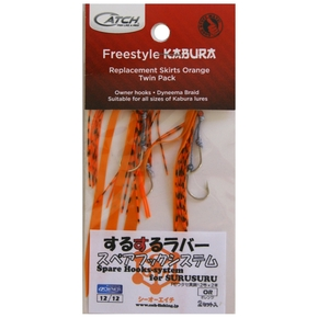 Freestyle Kabura Jig Assist Rig Orange 2-Pk