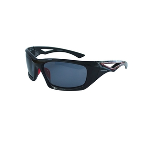 Aernos Polarised Boating / Fishing Sunglasses - Black with Smoke Lens