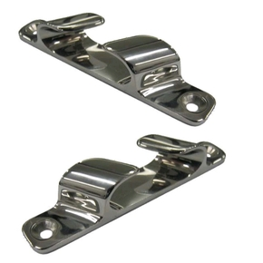 SS Fairlead Bow Chocks Angled - 200mm - Pair
