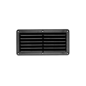Deluxe Black ABS Plastic Louvred Vent 200x100mm