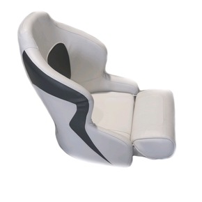 Ocean 52 Deluxe Seat Flip Up Seat - White/Grey