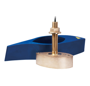 B265LH Thru Hull Bronze Transducer For Chirp / Broadband Sonar