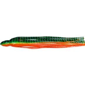 "Replacement Game Lure Skirt - 14"" - Green Orange Tiger"