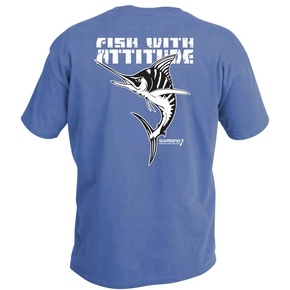 T-Shirt Blue with Marlin Design Medium