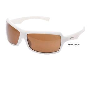 Revolution Sunglasses White with Amber lenses