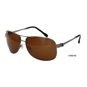 Symetre Polarised Boating / Fishing Sunglasses - Grey with Black Lens