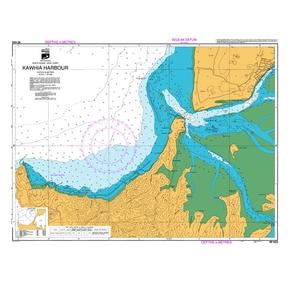 NZ 4423 Hydrographic Marine Chart- Kawhia Harbour