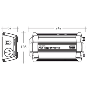 PW350 Pro-Wave Pure Sine Wave Inverter- 350 Watts