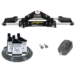 Premium Hydraulic Outboard Steering Kit to 300HP - Front Mt (15m hose)