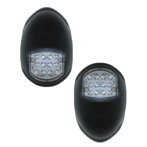 12v LED Port & Starboard Navigation Light Set - Black