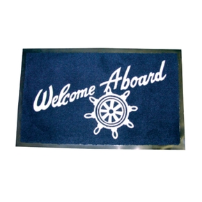 """Welcome Aboard"" Mat 40x 60cms -"