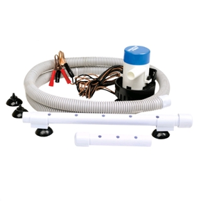 12v 360gph Live Bait Tank/Ice Box Aerator Pump Kit - Portable