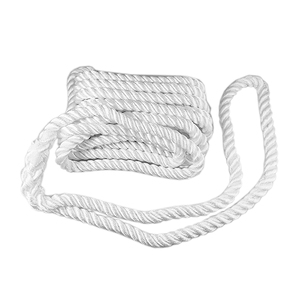 3 Strand Nylon Dock/Mooring Line - 12mm x 8m-White