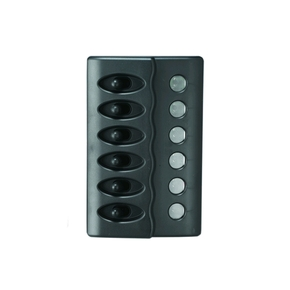 Black 6 Switch Marine Panel- Waterproof- 12v