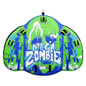 Mega Zombie XXL 2-4 Rider Inflatable Towable Water Toy Ski Biscuit