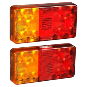 Submersible LED Rectangle Boat Trailer / Road Trailer Light Set