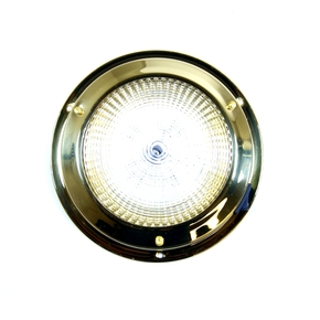 Surface Mt Brass Dome LED Cabin Light - 12v