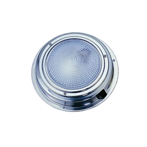 SS Surface Mt. Dome LED Cabin Light - 12v w/switch - 122mm
