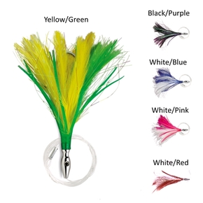 Flash Feathered Rigged Tuna Lure 4'' 5/0- Assorted Colours (Each)