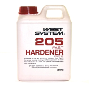 Z205 Epoxy Resin Fast Hardener  (Part B) - 800mls (5:1)