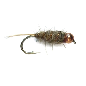 Goldbead Hare & Copper Nymph Freshwater Trout Fly / #B14 Hook (Each)
