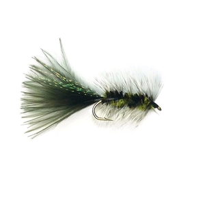 Black Woolly Bugger Freshwater Trout Fly Streamer / #B06 Hook (Each)