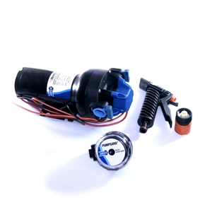 HotShot Diaphragm Washdown Pump Set 12v 22LPM 70PSI