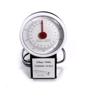 22kg Dial Face Fishing Scale with 1m Measuring tape