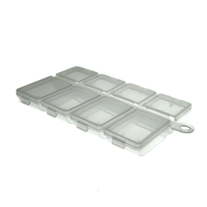 Mini 8 Compartment Flat Fly Box
