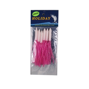 Needle Lure Skirt - 10.5cm - Pink/Lumo - 6 Pack