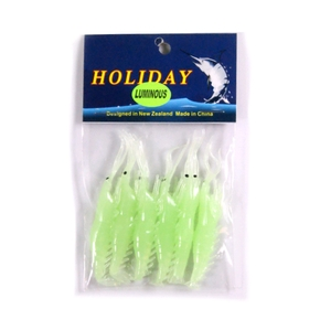 Softbait Shrimp - 2.5'' - Lumo - 6 pack