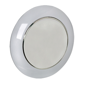 Low Profile 75mm Surface Mt LED Dome Light 12v - White