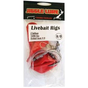 Live Bait Rig 9/0 Single Pack with 2 x Balloons (120lb)